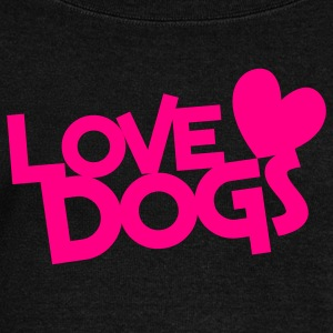 love dogs dog lover Long Sleeve Shirts - Women's Wideneck Sweatshirt