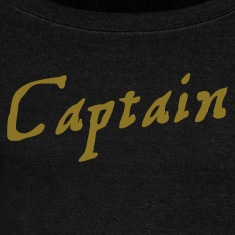 captain in pirate script Long Sleeve Shirts