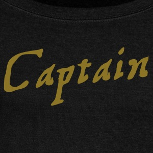 captain in pirate script Long Sleeve Shirts - Women's Wideneck Sweatshirt