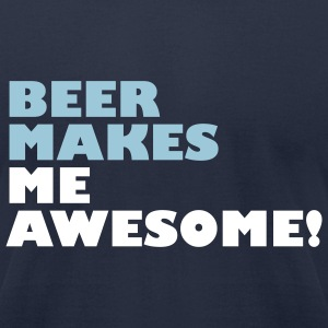 Beer makes me awesome - Men's T-Shirt by American Apparel