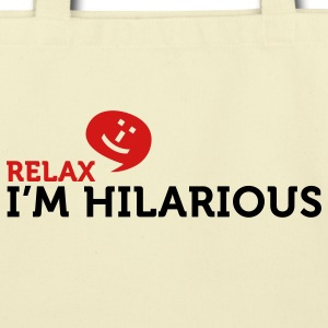 Relax Im Hilarious (2c) Bags  - Eco-Friendly Cotton Tote