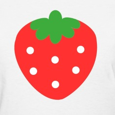 Basic Cute Strawberry T-Shirt (white)