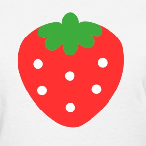 Basic Cute Strawberry T-Shirt (white) - Women's T-Shirt