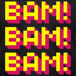 Bam! Bam! Bam! T-Shirts - Men's T-Shirt by American Apparel
