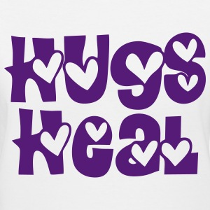 Hugs Heal Women's T-Shirts - Women's V-Neck T-Shirt