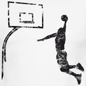 Basketball Dunk Board Vintage Look Retro T-Shirts - Men's Ringer T-Shirt