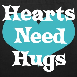 Hearts Need Hugs Bags  - Eco-Friendly Cotton Tote