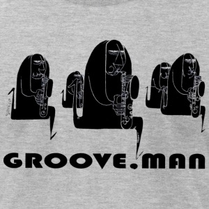 Groove Man-Jazz Musicians T-Shirts - Men's T-Shirt by American Apparel
