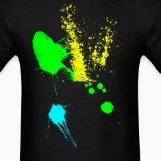 colorful paint splatter T-Shirts
