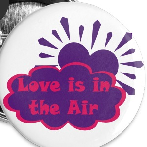 Love is in the Air Buttons - Small Buttons