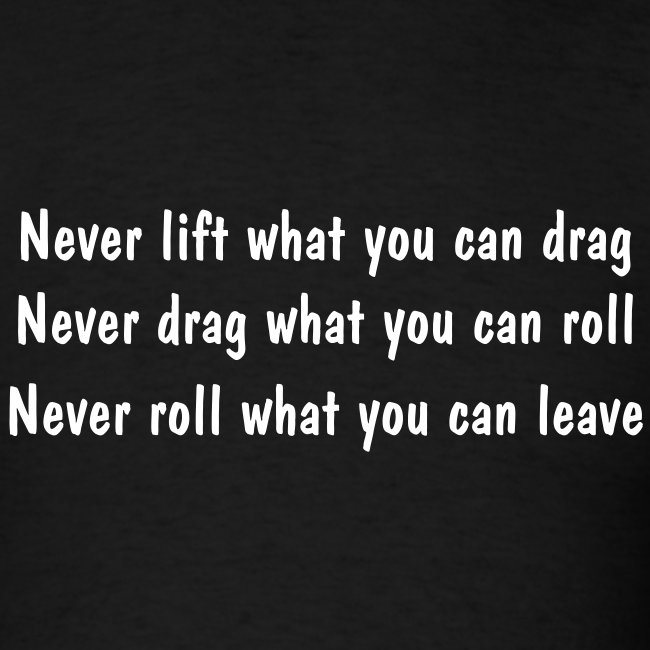 Never...