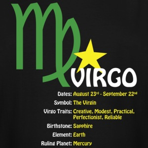 Virgo Traits Men's Tall Dark Tee - Men's Tall T-Shirt