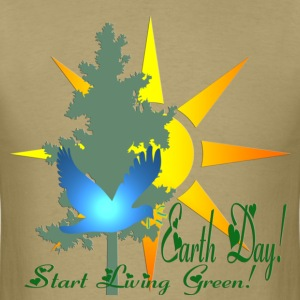 earthday_start_living_green T-Shirts - Men's T-Shirt