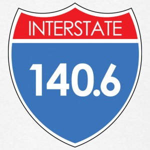 Interstate 140.6 T-Shirts - Men's T-Shirt