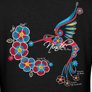 Honoring Generations of Mothers - My Heart ~ Ninde, Ojibwe - Women's V-Neck T-Shirt