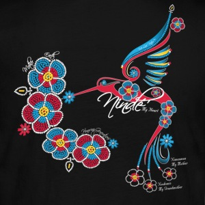 Honoring Generations of Mothers - My Heart ~ Ninde, Ojibwe - Women's Long Sleeve Jersey T-Shirt