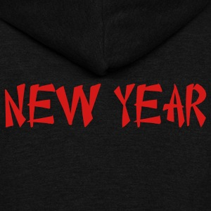 new year Chinese font Zip Hoodies/Jackets - Unisex Fleece Zip Hoodie by American Apparel