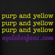 Design ~ mens purp and yellow (black) tshirt