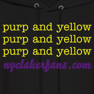 Design ~ mens purp and yellow (black) sweater