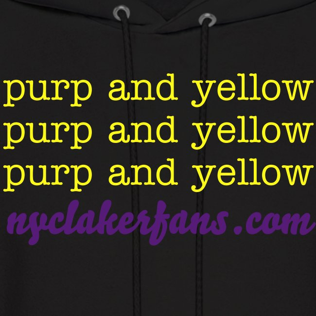 mens purp and yellow (black) sweater