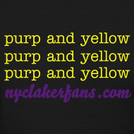 Design ~ womens purp and yellow (black) tshirt