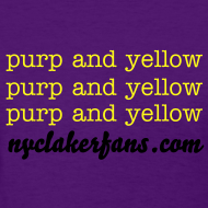 Design ~ womens purp and yellow (purple) tshirt