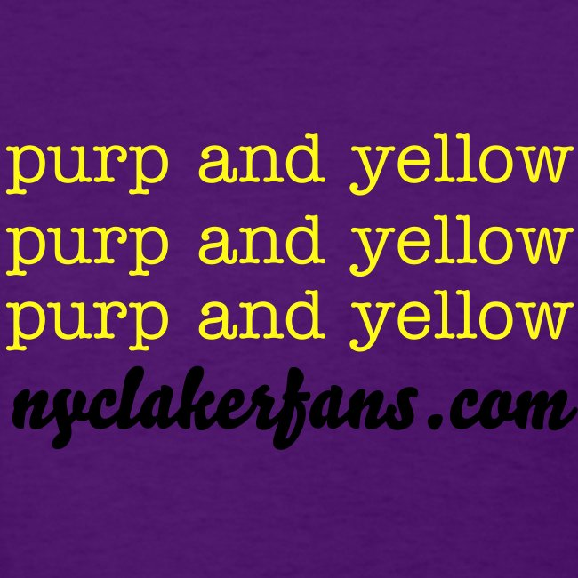 womens purp and yellow (purple) tshirt