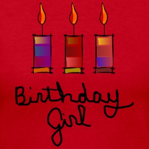 Birthday Girl With 3 Multi-Color Candles--DIGITAL DIRECT PRINT Long Sleeve Shirts - Women's Long Sleeve Jersey T-Shirt
