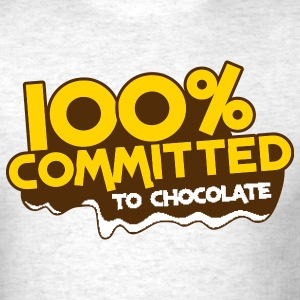 100 percent committed to chocolate T-Shirts - Men's T-Shirt