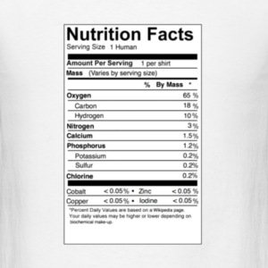 human_nutritional_facts T-Shirts - Men's T-Shirt