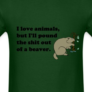 pound_beaver T-Shirts - Men's T-Shirt