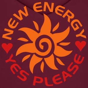NEW ENERGY sun | men's hooded sweatshirt - Men's Hoodie