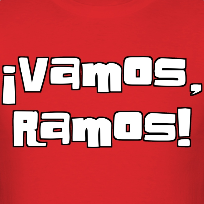 Vamos, Ramos! With number on back.