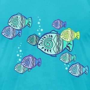 LUCKY FISH | men's american apparel tee - Men's T-Shirt by American Apparel