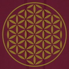 FLOWER OF LIFE - vector stamp | men's hooded sweat