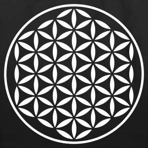 FLOWER OF LIFE - vector stamp | eco-friendly cotto - Eco-Friendly Cotton Tote