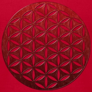 FLOWER OF LIFE | red glass punched | men's america - Men's T-Shirt by American Apparel