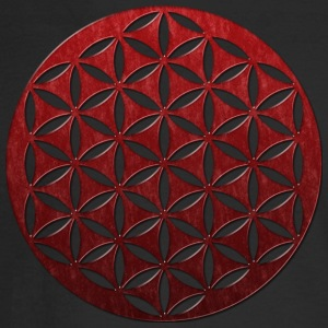 FLOWER OF LIFE | red glass punched | men's long sl - Men's Long Sleeve T-Shirt