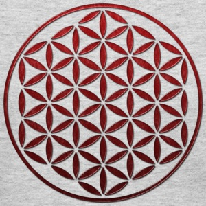 FLOWER OF LIFE - red glass stamp | women's long sl - Women's Long Sleeve Jersey T-Shirt