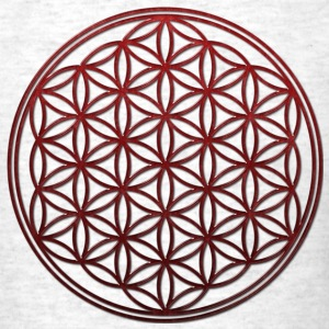 FLOWER OF LIFE - red glass | men's standard weight - Men's T-Shirt