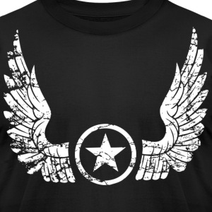 distressed wings white T-Shirts - Men's T-Shirt by American Apparel