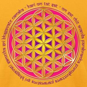 FLOWER OF LIFE - Moola Mantra | men's AA tee - Men's T-Shirt by American Apparel