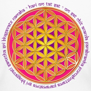 FLOWER OF LIFE - Moola Mantra | women's long sleev - Women's Long Sleeve Jersey T-Shirt