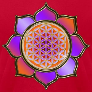 FLOWER OF LIFE - Lotus orange violet | men'sameric - Men's T-Shirt by American Apparel