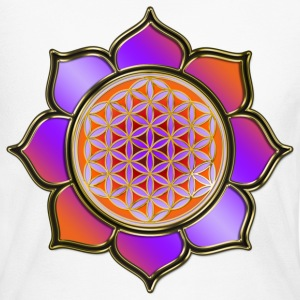 FLOWER OF LIFE - Lotus orange violet | women's lon - Women's Long Sleeve Jersey T-Shirt