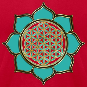 FLOWER OF LIFE - lotus ocean green | men's AA tee - Men's T-Shirt by American Apparel