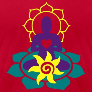 BUDDHA ENERGY - vector | men's american apparel te - Men's T-Shirt by American Apparel