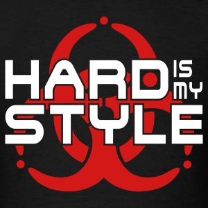 HARD IS MY STYLE - hardstyle vector | men's standa - Men's T-Shirt