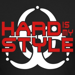 HARD IS MY STYLE - hardstyle vector | men's americ - Men's Long Sleeve T-Shirt by Next Level