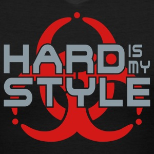 HARD IS MY STYLE - hardstyle vector | women's v-ne - Women's V-Neck T-Shirt